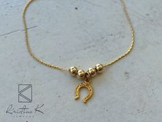 Gold Filled Lucky Bracelet  Gold Beads by KristinaKjewelry on Etsy