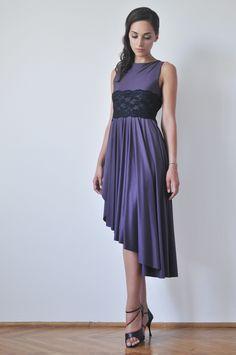 Purple tango dress with lace #ILLANGO #womensclothing #tangodress