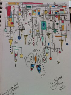 Just saw this cool Zenspirations Dangle Design... It was done with  Pen, Derwent watercolour pencils and intense pencils.