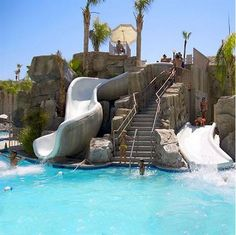 The infamous waterslide at the Palm Canyon Resort, provides hours of fun for both kids and adults alike. http://palmcanyonresort-reservations.com/