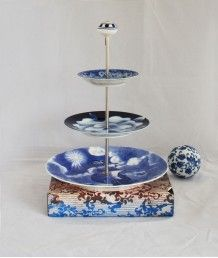 Beautiful 3 tiered stand Tiered Stand, Cake Stands, Tiered Cakes, Creme, Beautiful, Wood Cake Stands