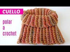Cuello polar a crochet - YouTube Crochet Cardigan, Crochet Scarves, Crochet Shawl, Crochet Stitches, Free Crochet, Knit Crochet, Tricot Simple, Knit Slippers Free Pattern, Knitting Patterns