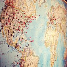 Places I've been/Places I want to go -- i want to do this in my room