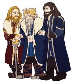 denying the ending by nadipieart (Thorin, Fili, and Kili) #hobbit #fanart