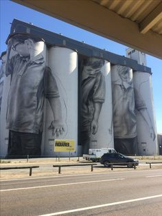 Silo Art at Coonaplyn South Australia Murals Street Art, Street Art Graffiti, Mural Art, South Australia, Australia Travel, Sky Go, Art Du Monde, Urban Graffiti, Farm Art