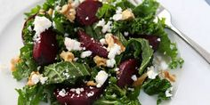Cumin Roasted Beets, Kale and Feta Salad Recipe