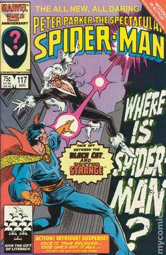 Spectacular Spider-Man (1976 1st Series) 117 Marvel Comics Peter Parker Comic book covers Super Heroes Villians Amazing Astonishing silver bronze modern age