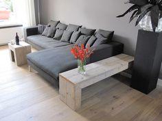 Lage sidetable | Steigerhout | Te koop bij w00tdesign | by w00tdesign | Meubels van steigerhout