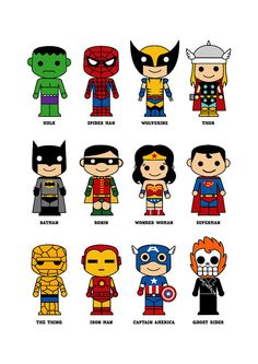 cute superhero 8 x 10 print