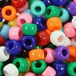 Opaque Mix Mini Plastic Pony Beads 4x7mm (Mini Size), 325...