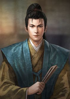 View an image titled 'Takenaka Hanbei Art' in our Nobunaga's Ambition: Sphere of Influence art gallery featuring official character designs, concept art, and promo pictures. Game Character Design, Character Concept, Character Art, Dnd Characters, Fantasy Characters, Nobunaga's Ambition, Samurai Artwork, Japanese Monster, Geisha Art