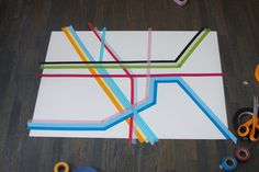 love this!  map made with tape