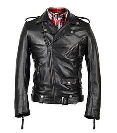 Factory Men Genuine Cowhide Leather Jacket Brand Design Fashion Casual Star Style Punk Rock Motorcycle Coat S-3XL Winter ZH089A $187.49