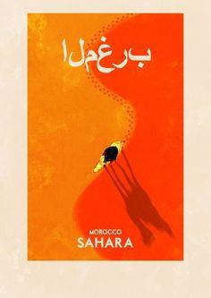 Sahara Travel Poster - travel inspires understanding #ExpediaWanderlust