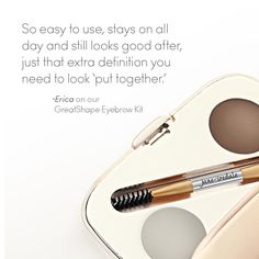 Enhance your brows. Complete your look. It's as easy as wax, powder, and go!