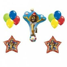 Balloons Lion Birthday Baby First 3rd Parties Ideas
