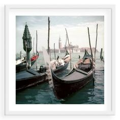 Check out this item at One Kings Lane! Slim Aarons, Venice Gondolas