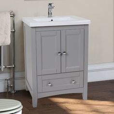 Perfect corralling your beauty essentials and toiletries, this essential vanity effortlessly completes the master bath or powder room.