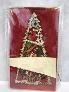 christmas tree plaque r fogle dicksons a christmas tree nativity
