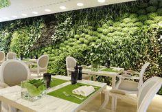 VINTAGE & CHIC: decoración vintage para tu casa · vintage home decor: Il Giardino (o de un restaurante con un jardín vertical) · Il Giardino (a restaurant with a vertical garden)