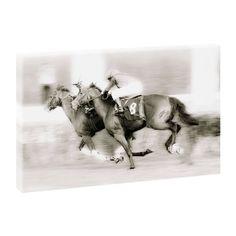 Top Bilder Kunstdruck auf Leinwand XXL Pferderennen-100cm*65cm
