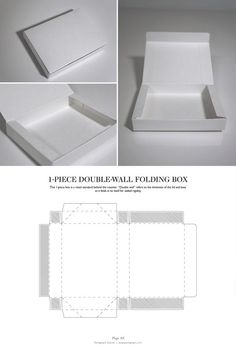 Double-Wall Folding Box - Packaging & Dielines: The Designer's Book of Packaging Dielines by silvia Packaging Dielines, Brand Packaging, Packaging Design, Packaging Ideas, Box Packaging Templates, Retail Packaging, Diy Paper, Paper Crafts, Diy Crafts