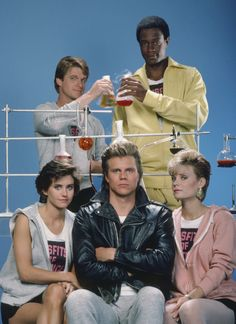 Misfits of Science...awesome TV show, Courtney Cox super-young here