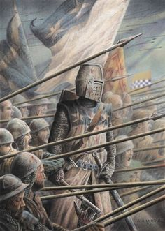 The Black Douglas Sir James, �the good� or �the black� Douglas directs the left wing of the Scottish army on the second day of the Battle ...