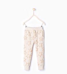 ZARA - KIDS - Stars plush trousers