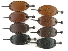 Leather Diy Crafts, Leather Gifts, Leather Bags Handmade, Leather Projects, Leather Craft, Leather Earrings, Leather Jewelry, Leather Accessories, Hair Accessories