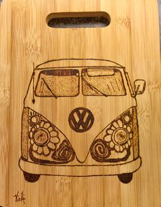 Flower Power. Kitchen cutting board pyrography.  Www.facebook.com/SouthernSunriseArt