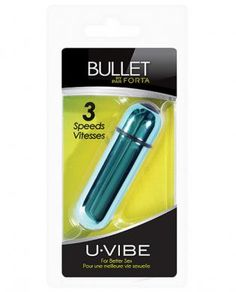 The uVIBE BULLET is a mini, super-powered, personal stimulator. It features a sleek, flush, push button and a 3 speed motor. The BULLET is made of a high quality, ultra durable ABS material. Requires 3 AG13 batteries. Batteries included. The Bullet comes in individual, sealed packages with hang tags. The back of the product feature instructions and guidelines.