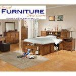 $1789.99  Acme Furniture - Meadow Oak Wood Storage Full Bookcase Captain Bedroom Set - M0600FS