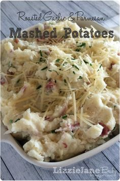 Roasted Garlic & Parmesan Mashed Potatoes