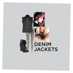 """Black Denim Jacket"" by a-tomboy-looking-for-fame on Polyvore featuring rag & bone, River Island, denimjackets and WardrobeStaples"