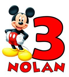 This is a photo of Hilaire Mickey Mouse 3rd Birthday