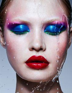 Super Soaker Christina Ferretti and Carolina Dali make it rain for this original MDC beauty story