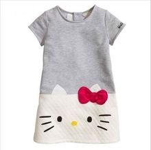 Hello Kitty Niñas Vestidos Ropa de Los Cabritos 2016 Niños se Visten de Marca Para Las Niñas Ropa Princesa Vestido de Navidad Vetement Fille(China (Mainland))