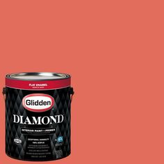 Glidden Diamond 1 gal. #HDGO01 Orange Tiger Lily Flat Interior Paint with Primer