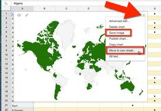Google Sheets Map Countries Move to own sheet List Of Country Names, Country Maps, Create A Map, B 13, Save Image, Countries, Gadgets, Chart, Education