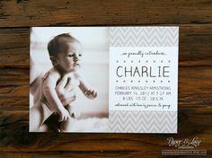 Newborn Photo Baby Birth Announcement Boy or by paperandlaceaustin
