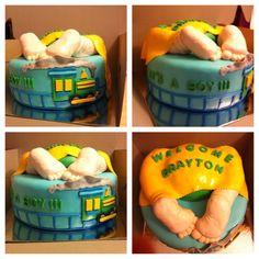 Baby Boy with Train cake!!!
