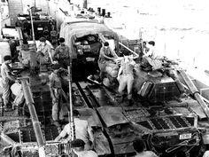 22 Temmuz Sabahı Yavuz Plajına Çıkarılan 39. Tümene Bağlı Tanklar – Ortada Plaja Adını Veren Şehit Üsteğmen Yavuz Sokullu