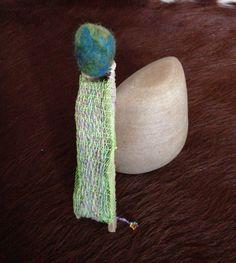 Felting driftwood wool sculpture by Martina Tita Ernst Driftwood, Textile Art, Felting, Crochet Earrings, Textiles, Sculpture, Wool, Jewelry, Jewellery Making