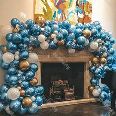 Balloon Arch, Balloon Garland, Balloon Decorations, Baby Shower Decorations, Balloon Ideas, Rose Gold Balloons, White Balloons, Bridal Shower Balloons, Balloon Wedding