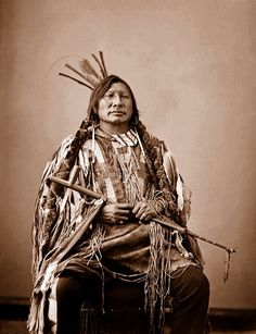 Iron Hawk, Hunkpapa Sioux, 1872 by Peer Into The Past, via Flickr