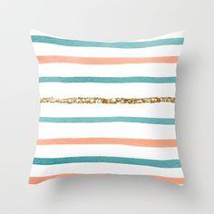 Sparkle Stripe Throw Pillow by Social Proper - so many pretty pillows at society6