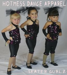 Skater Girlz costume for 2-3 year-olds.  Need a great small group outfit? Give us a call: (951) 268-4452