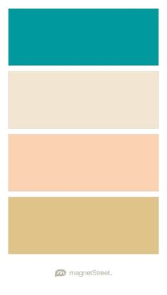 Teal, Champagne, Peach, and Gold Wedding Color Palette - custom color palette created at MagnetStreet.com