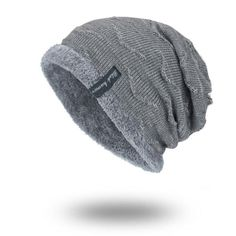 FASHION Boys Men Winter Hat Knit Scarf Cap Men Caps Warm Fur Skullies Beanie  Bonnet Hat Fleece dad cap Wool Hat Knitting 9ee755e2a44b